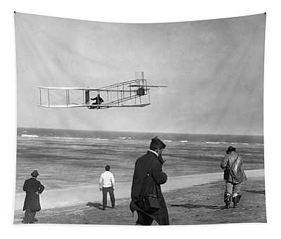 1911 One Of The Wright Brothers Flying Tapestry