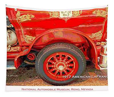 1917 American Lafrance Classic Automobile Fire Engine Tapestry
