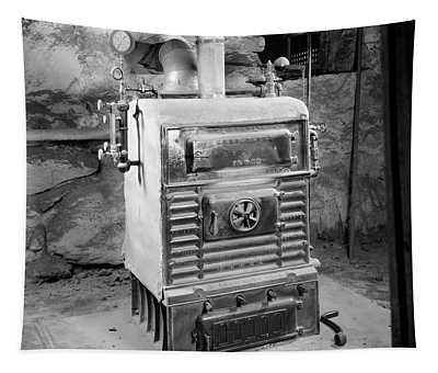1920s Coal Burning Steam Water Boiler Tapestry