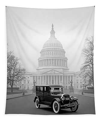 1924 Ford Lincoln At U. S. Capitol Tapestry