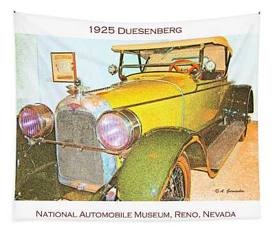 1925 Duesenberg Automobile Tapestry