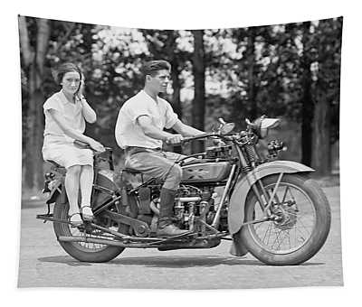 1930s Motorcycle Touring Tapestry