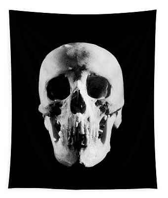 1930s Portrait Human Skull Looking Tapestry
