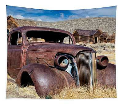 1937 Chevrolet Coupe At Bodie Tapestry