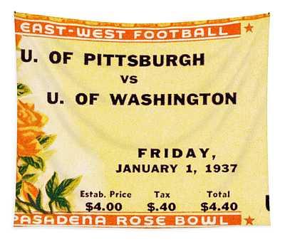 1937 Rose Bowl Ticket Tapestry
