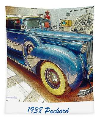 1938 Packard National Automobile Museum Reno Nevada Tapestry