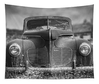 1940 Desoto Deluxe Black And White Tapestry