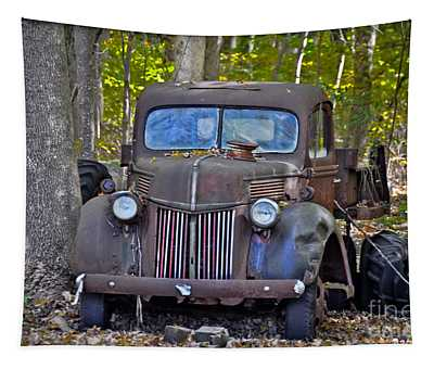 Tapestry featuring the photograph 1940 Ford Dump Truck by Gary Keesler