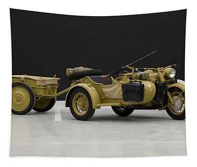 1943 Bmw 750cc R7 Africa Corps Military Tapestry