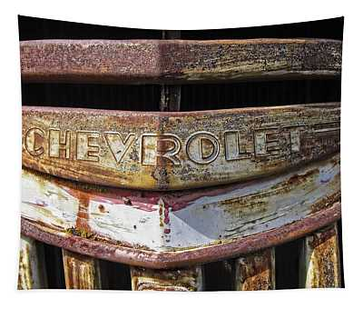 1946 Chevrolet Truck Grill And Emblem Tapestry
