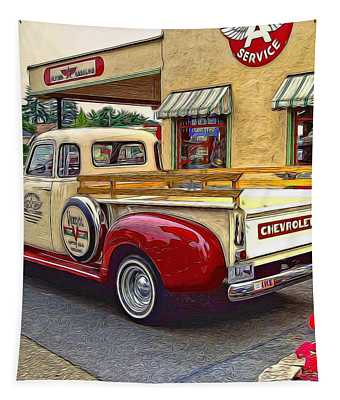 1949 Chevy Truck Tapestry