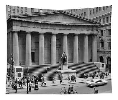1950s 1958 Wall Street Federal Hall Tapestry