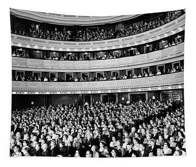 1950s Audience Sitting In Carnegie Hall Tapestry