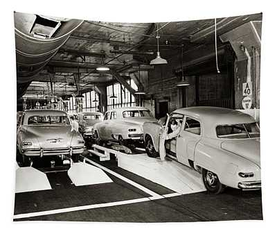 1950s Studebaker Automobile Production Tapestry