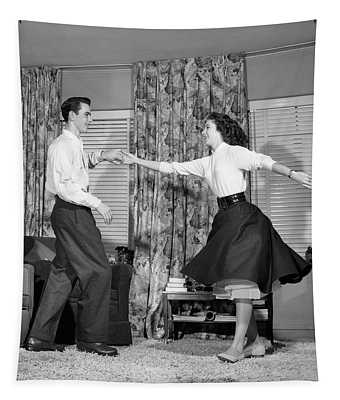 1950s Teen Boy And Girl Jitterbug Tapestry