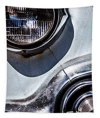 1953 Chevy Headlight Detail Tapestry
