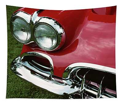 1958 1950s Corvette Headlights Tapestry