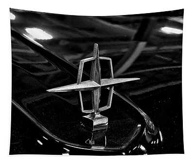 1958 Lincoln Continental Hood Ornament Tapestry
