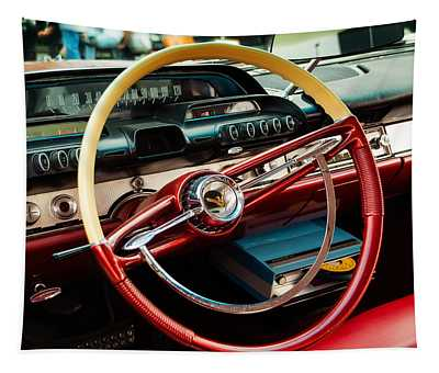 1960 Desoto Fireflite Coupe Steering Wheel And Dash Tapestry