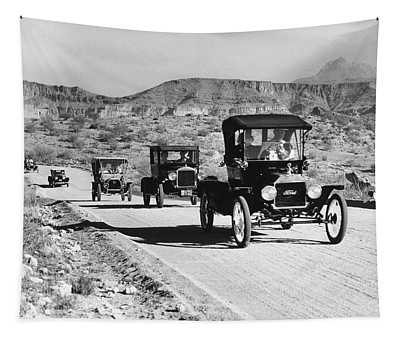 1960s Line Of 1920s Model T And 1930s Tapestry