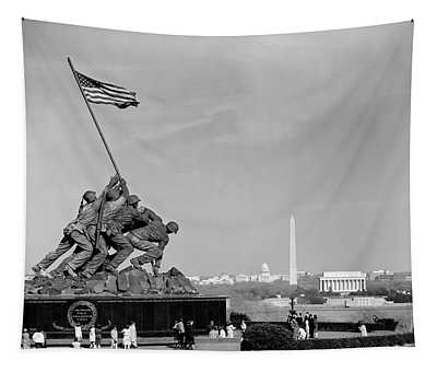 1960s Marine Corps Monument Tapestry