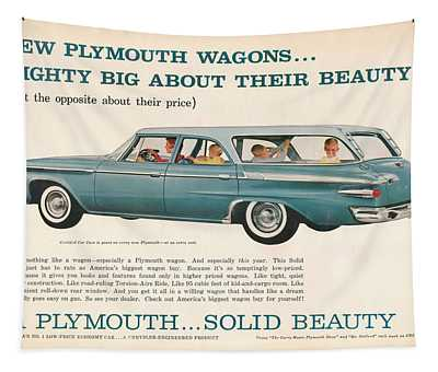 1961 Plymouth Wagon Tapestry