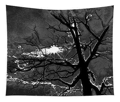 1970s Posterization Of Sun Peeking Tapestry