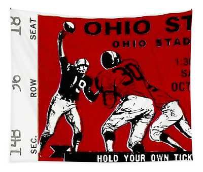 1979 Ohio State Vs Wisconsin Football Ticket Tapestry