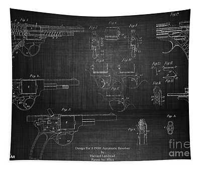 1900 Landstad Automatic Revolver Tapestry