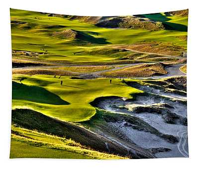 #9 At Chambers Bay Golf Course Tapestry