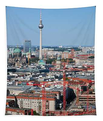 Berlin Cathedral And Tv Tower Tapestry