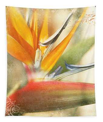 Bird Of Paradise - Strelitzea Reginae - Tropical Flowers Of Hawaii Tapestry