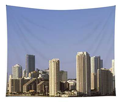 Buildings In A City, Miami, Florida Tapestry