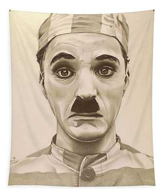 Vintage Charlie Chaplin Tapestry