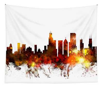 Chicago Illinois Skyline Tapestry