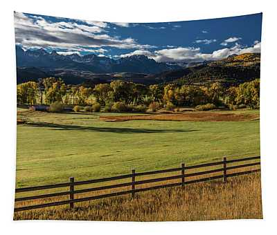 Double Rl Ranch Near Ridgway, Colorado Tapestry
