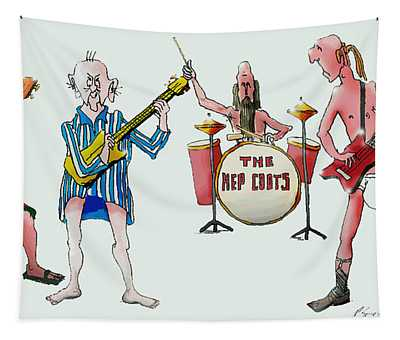Sixties And Seventies Musicians Tapestry