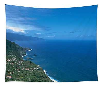 High Angle View Of A Coastline Tapestry