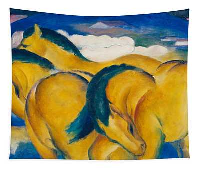 Little Yellow Horses Tapestry
