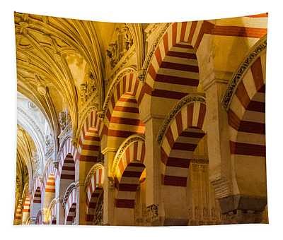 Mosque Cathedral Of Cordoba  Tapestry by Andrea Mazzocchetti