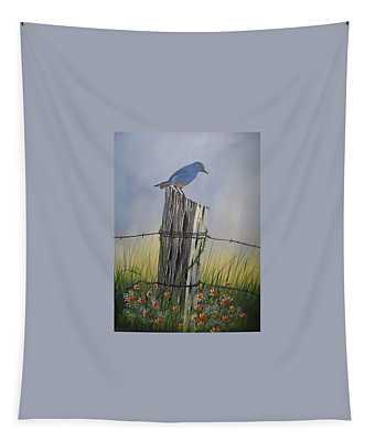 Mountain Bluebird Tapestry