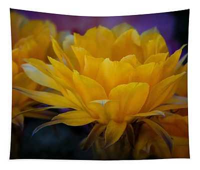 Orange Cactus Flowers  Tapestry