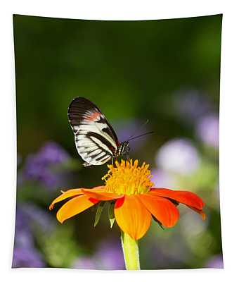 Tapestry featuring the photograph Piano Key Butterfly by Kim Hojnacki