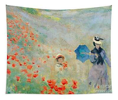 Poppies At Argenteuil Tapestry