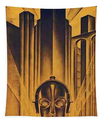 Poster From The Film Metropolis 1927 Tapestry