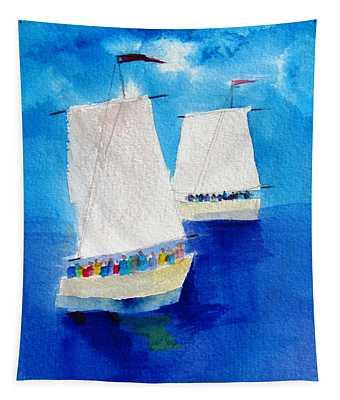2 Sailboats Tapestry