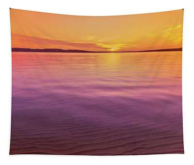 Scenic View Of Lake At Dusk, Sand Tapestry