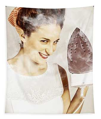 Steam Clean Vintage Laundry Pin Up Tapestry