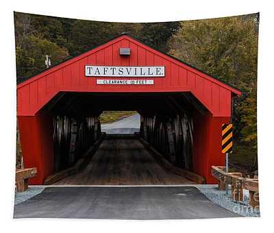Taftsville Covered Bridge Vermont 2 Tapestry