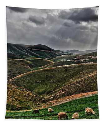 The Lord Is My Shepherd Judean Hills Israel Tapestry